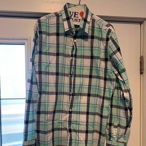 Large mens button down